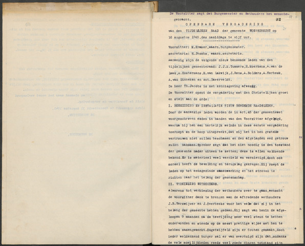 Woensdrecht: Notulen gemeenteraad, 1922-1996 1945-01-01