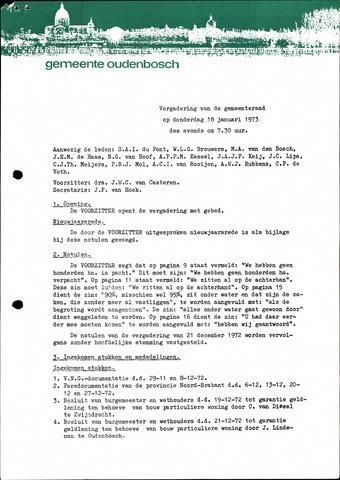 Oudenbosch: Notulen gemeenteraad, 1939-1994 1973-01-01