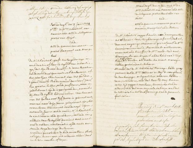 Roosendaal: Registers van resoluties, 1671-1673, 1675, 1677-1795 1724
