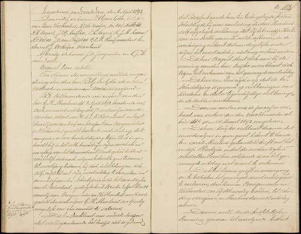 Roosendaal: Notulen gemeenteraad (besloten), 1851-1916 1893