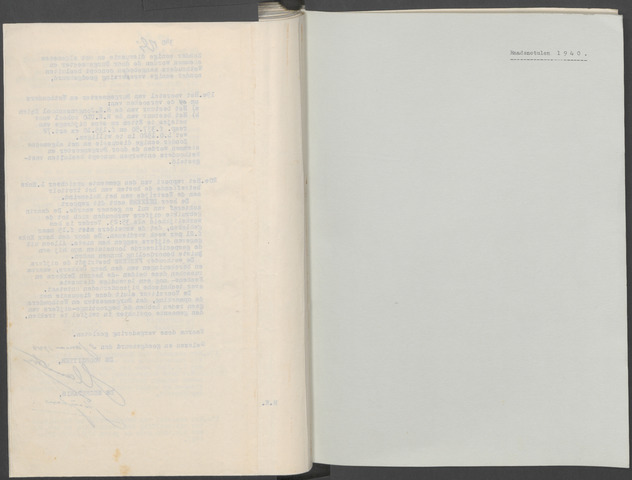 Etten-Leur: Notulen gemeenteraad, 1936-1979 1940-01-01