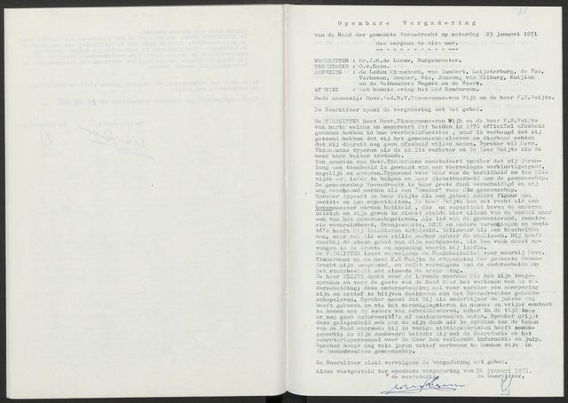 Woensdrecht: Notulen gemeenteraad, 1922-1996 1971-01-01