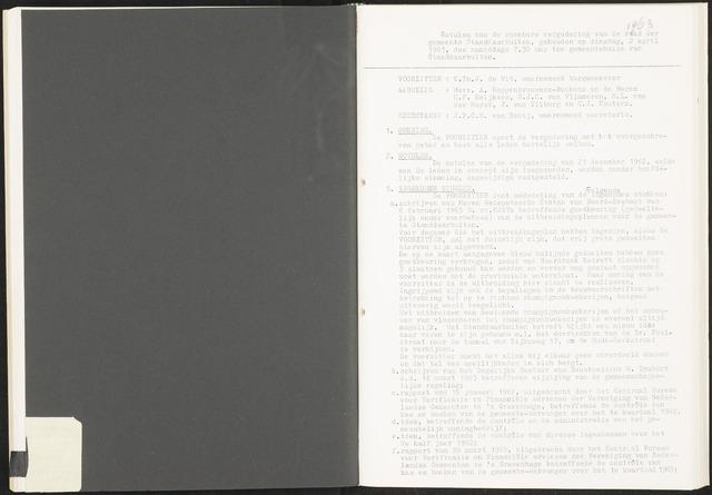 Standdaarbuiten: Notulen gemeenteraad, 1937-1996 1963-01-01