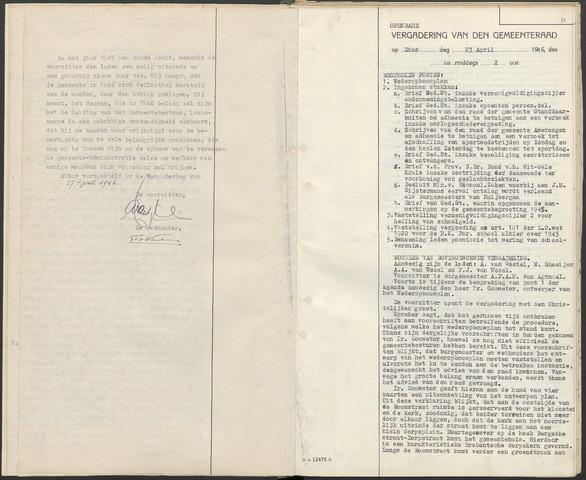 Huijbergen: Notulen gemeenteraad 1935-1996 1946-01-01