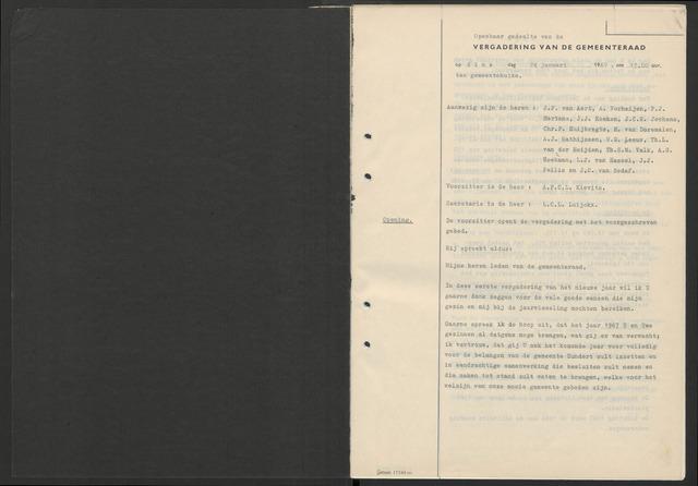 Zundert: Notulen gemeenteraad, 1934-1988 1967-01-01