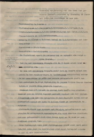 Zundert: Notulen gemeenteraad, 1934-1988 1935-01-01