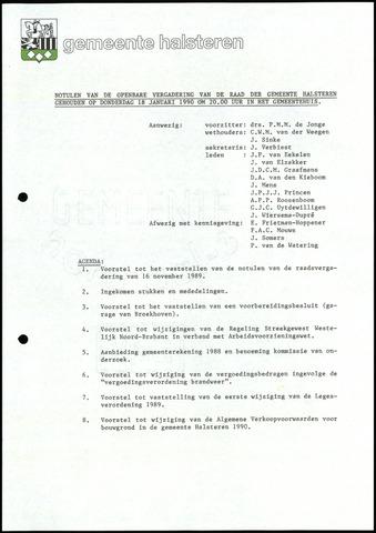 Halsteren: Notulen gemeenteraad, 1960-1996 1990