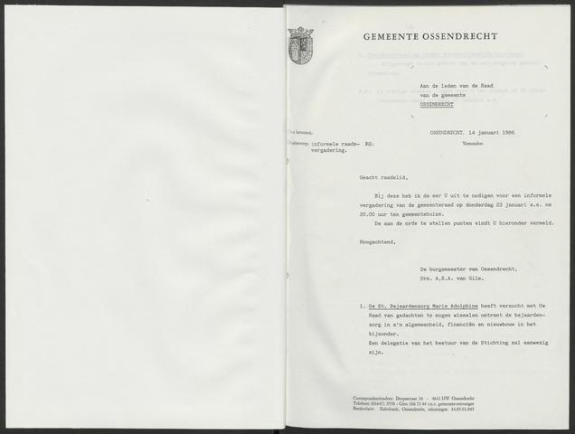 Ossendrecht: Notulen gemeenteraad, 1920-1996 1986