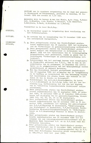 Dinteloord: Notulen gemeenteraad, 1946-1996 1969