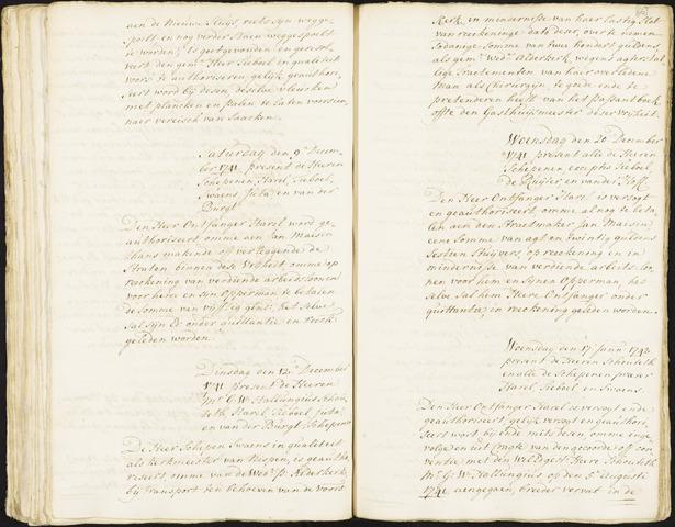 Roosendaal: Registers van resoluties, 1671-1673, 1675, 1677-1795 1742