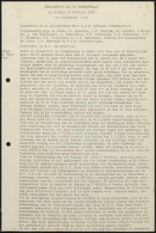 Oud en Nieuw Gastel: Notulen gemeenteraad, 1938-1980 1952-01-01