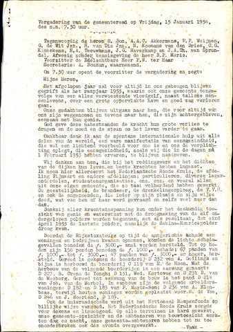 Fijnaart en Heijningen: notulen gemeenteraad, 1934-1995 1954