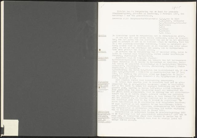 Standdaarbuiten: Notulen gemeenteraad, 1937-1996 1955-01-01