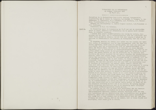 Oud en Nieuw Gastel: Notulen gemeenteraad, 1938-1980 1957-01-01