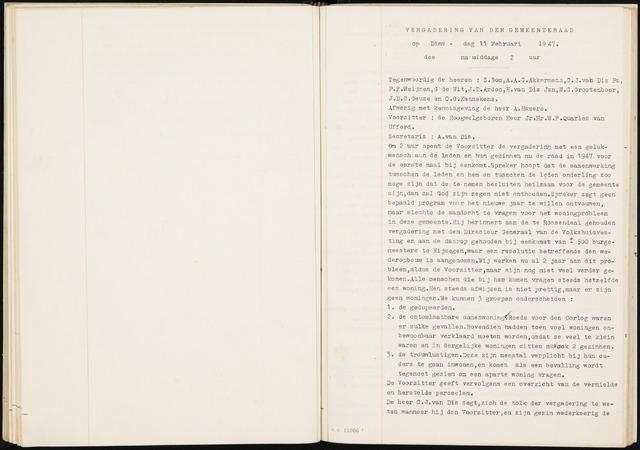 Fijnaart en Heijningen: notulen gemeenteraad, 1934-1995 1947