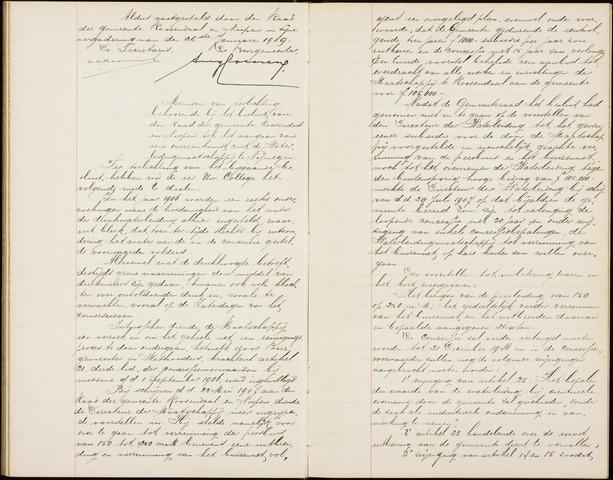 Roosendaal: Notulen gemeenteraad (besloten), 1851-1916 1909
