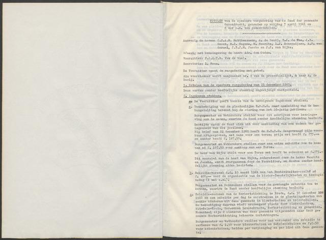 Ossendrecht: Notulen gemeenteraad, 1920-1996 1961