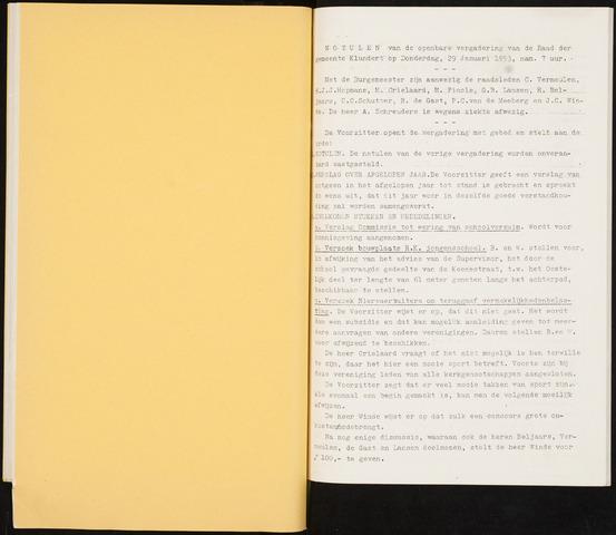 Klundert: Notulen gemeenteraad, mei 1933-1996 1953