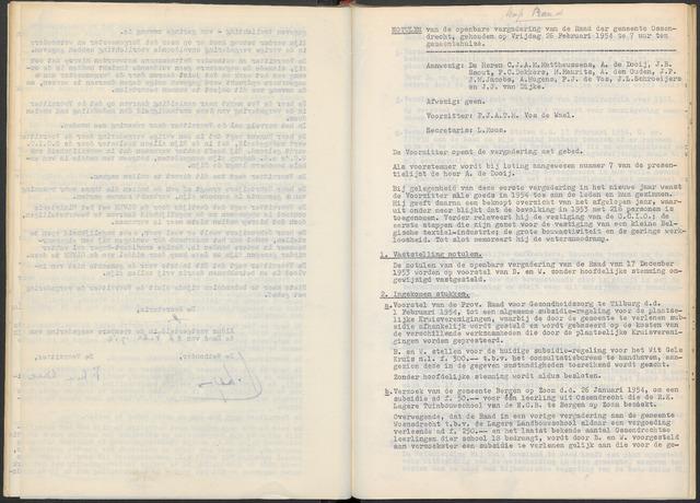 Ossendrecht: Notulen gemeenteraad, 1920-1996 1954