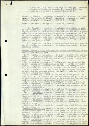 Putte: Notulen gemeenteraad, 1928-1996 1960-01-01