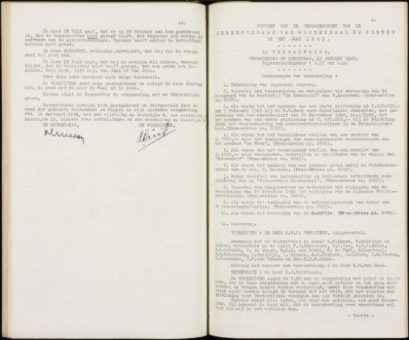 Roosendaal: Notulen gemeenteraad, 1916-1999 1949