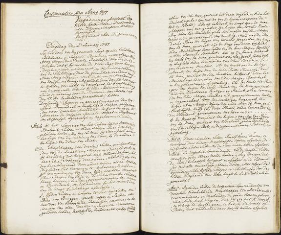 Roosendaal: Registers van resoluties, 1671-1673, 1675, 1677-1795 1787