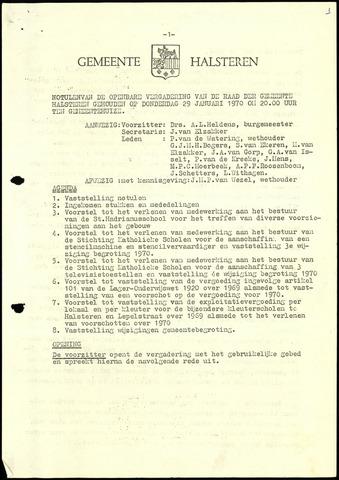 Halsteren: Notulen gemeenteraad, 1960-1996 1970