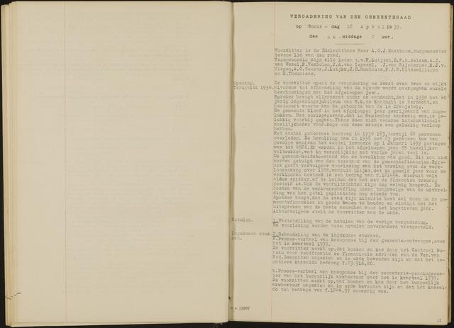 Oud en Nieuw Gastel: Notulen gemeenteraad, 1938-1980 1939-01-01