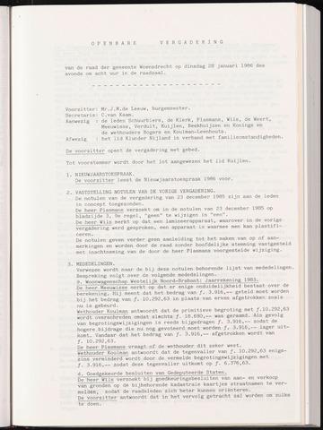 Woensdrecht: Notulen gemeenteraad, 1922-1996 1986-01-01