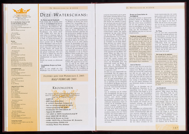 De Waterschans 2004-12-01
