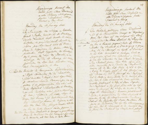 Roosendaal: Registers van resoluties, 1671-1673, 1675, 1677-1795 1781