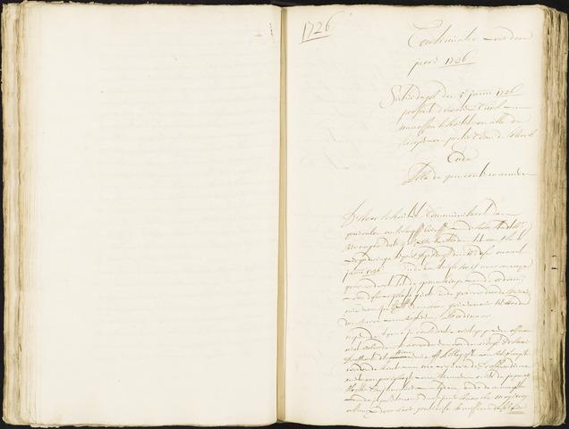Roosendaal: Registers van resoluties, 1671-1673, 1675, 1677-1795 1726