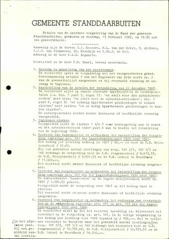 Standdaarbuiten: Notulen gemeenteraad, 1937-1996 1968-01-01