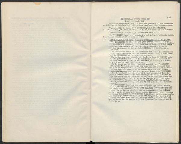 Nieuw-Vossemeer: Notulen gemeenteraad, 1957-1996 1961-01-01