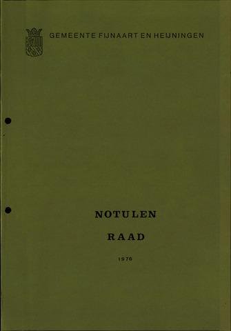 Fijnaart en Heijningen: notulen gemeenteraad, 1934-1995 1976