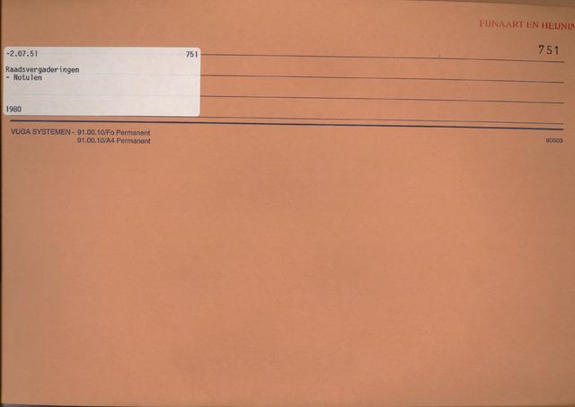 Fijnaart en Heijningen: notulen gemeenteraad, 1934-1995 1980