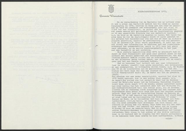 Woensdrecht: Notulen gemeenteraad, 1922-1996 1972-01-01