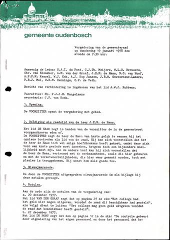 Oudenbosch: Notulen gemeenteraad, 1939-1994 1978-01-01