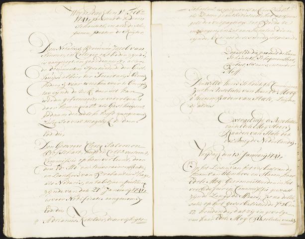 Roosendaal: Registers van resoluties, 1671-1673, 1675, 1677-1795 1741