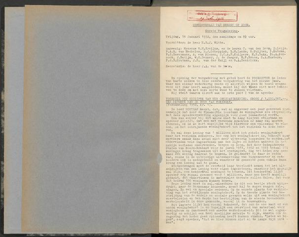 Bergen op Zoom: Notulen gemeenteraad, 1926-1996 1952-01-01
