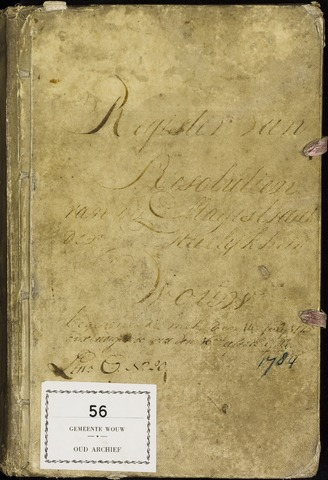 Wouw: Registers van resoluties, 1593-1811 1775