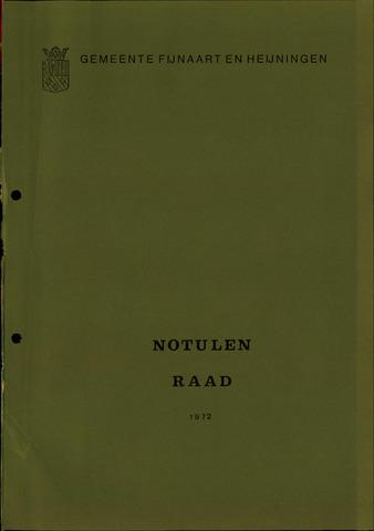 Fijnaart en Heijningen: notulen gemeenteraad, 1934-1995 1972