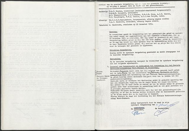 Rijsbergen: Notulen gemeenteraad, 1940-1996 1974