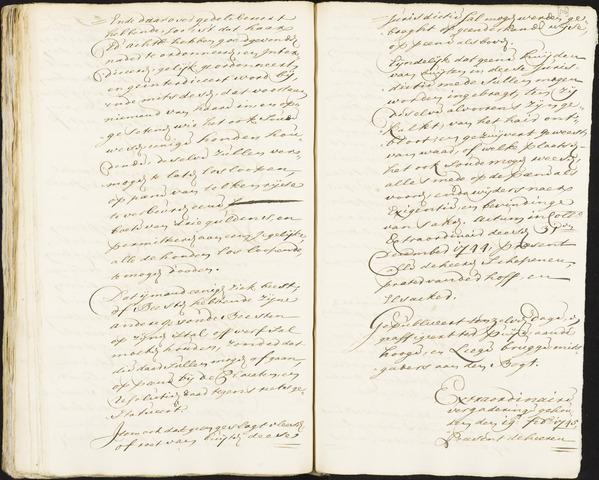 Roosendaal: Registers van resoluties, 1671-1673, 1675, 1677-1795 1745