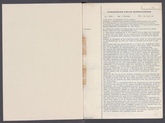 Rucphen: Notulen gemeenteraad, dec. 1949-1998 1972-01-01