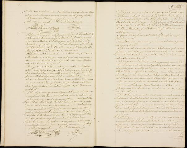 Roosendaal: Notulen gemeenteraad (besloten), 1851-1916 1854