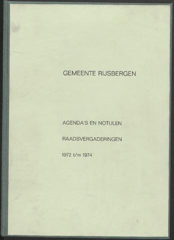 Rijsbergen: Notulen gemeenteraad, 1940-1996 1972