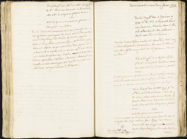 Roosendaal: Registers van resoluties, 1671-1673, 1675, 1677-1795 1730