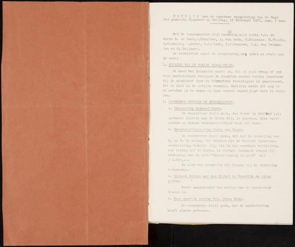 Klundert: Notulen gemeenteraad, mei 1933-1996 1955