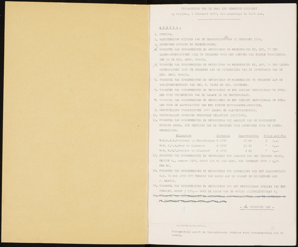 Klundert: Notulen gemeenteraad, mei 1933-1996 1957